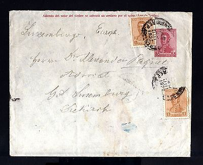 8182-ARGENTINA-OLD COVER BUENOS AIRES to DIEKIRCH (luxemburg).1922.Enveloppe.