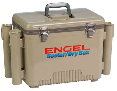 Engel Cooler/Dry Box with Rod Holders