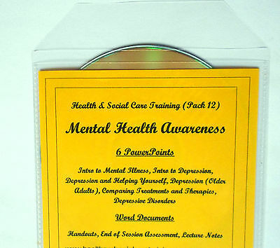 2018 MENTAL ILLNESS Awareness Health and Social Care Training Course CD