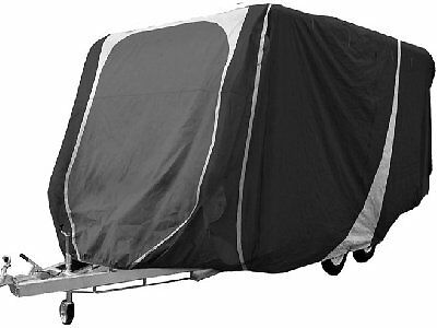 Caravan Cover 17 to 19ft Heavy Duty Breathable Charcoal/Grey 3 ply - Streetwize