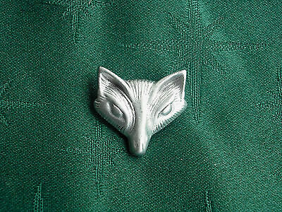 Fox/Vixen Button, Handcrafted in Fine Lead-Free Pewter