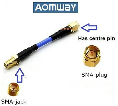 Aomway Antenna Extension Cable SMA Plug to SMA Jack Fatshark / ImmersionRC FPV