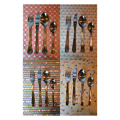 16 Or 32 Piece Cutlery Set Stainless Steel Dining Fork Knife Teaspoon Spoon New