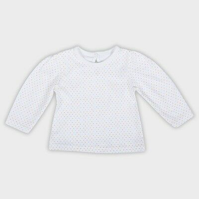 Baby Girls T Shirt Long Sleeved Multi Spot Cotton Top Newborn - 18-24mths