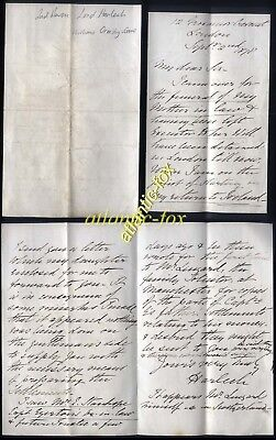 1878 Fine Autograph Letter William Ormsby-Gore, 2nd Baron Lord Harlech