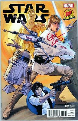 Star Wars #1 Dynamic Forces Variant Signed Greg Land Red Df Coa Movie 2015