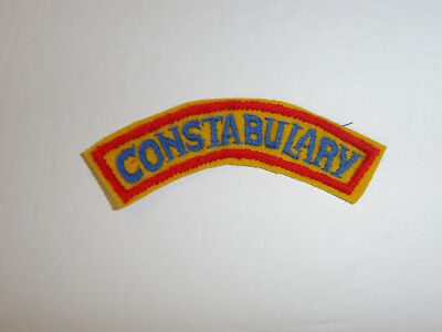 b7601 Post WW 2 US Army Constabulary tab Occupied Germany hnd on wool R8D