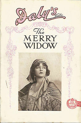 Daly's Theatre The Merry Widow Programme