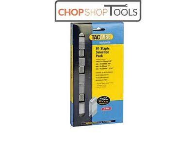 Tacwise TAC0204 91 Narrow Crown Divergent Point Staples Selection - Electric Tac