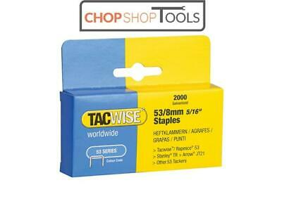 Tacwise TAC0335 53 Light-Duty Staples 8mm (Type JT21 A) Pack 2000