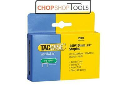 Tacwise TAC0347 140 Heavy-Duty Staples 10mm (Type T50, G) Pack 2000