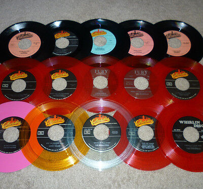 * * EVEN BETTER DEAL! 15 UNPLAYED MINT 45s: SWALLOWS, MEDALLIONS + COLORED VINYL