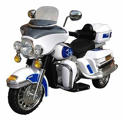 Rocket Cruiser Deluxe Ride On 12v Electric Battery Motorbike - White