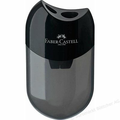 Faber Castell Double Hole Black Pencil Sharpener. Artists Black Sharpener.