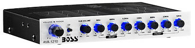NEW Boss AVA-1210 7-Band Car Stereo Equalizer Preamp Amplifier Audio EQ AVA1210