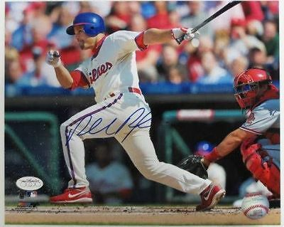 Placido Polanco Philadelphia Phillies Signed/Autographed 8x10 Swinging Photo JSA