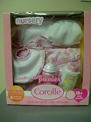 "Corolle 12"" Mon Premier Nursery Bag Set For Tidoo And Calin Baby Doll"