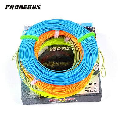 100FT Fly Line WF-2F-8F Weight Forward Floating Fly Fishing Line 4 Color Bass