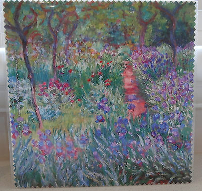 """Glasses Cleaning Cloth """"the Artist's Garden At Giverny"""" By Claude Monet 1900"""