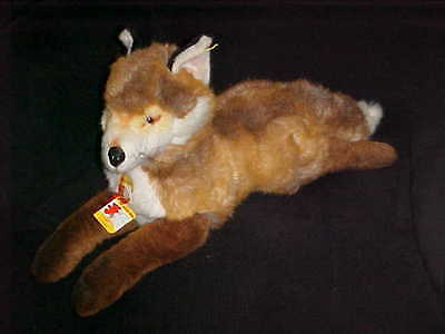 """28"""" Steiff  Molly Fuzzy Fox Plush Stuffed Toy With Tags Number 0347/55"""