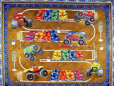 Monster Trucks Cotton Panel