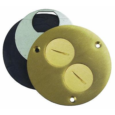"4"" Brass Floor Box Outlet Cover by Thomas & Betts P60DU"