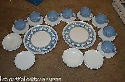 Apolloware Melmac Deluxe Dinnerware 40 piece set for 8 1970s Made in the USA