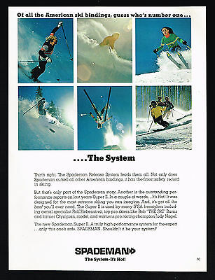 1974 Spademan Snow Ski Bindings Super II 6 Photo Vintage Print Ad