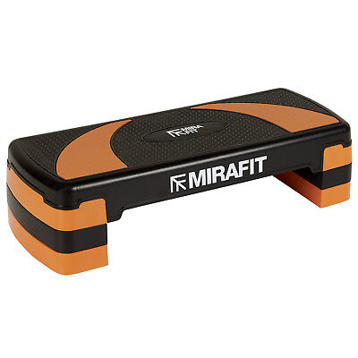 Mirafit Orange Adjustable Aerobic Exercise Stepper Board Yoga/Workout/Gym Step