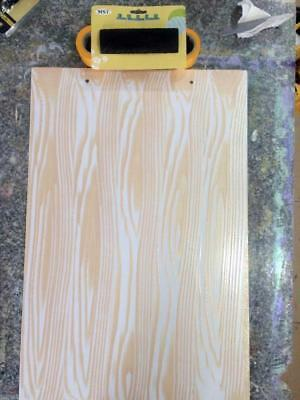 2Pcs S-shape Big Tooth Wood Grain Design Decorating Tool Rubber Painting
