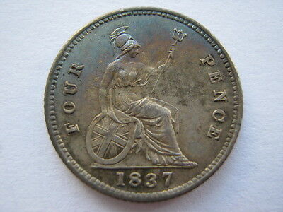 1837 Groat or Fourpence, GEF.