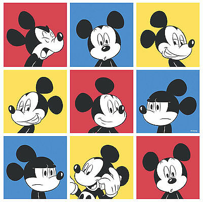 Disney Tapete Wallpaper Mickey Mouse Comic Rasch MK3013-1 Karo Bunt Quadrat