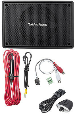 "Rockford Fosgate PS-8 8"" 150W RMS Underseat Powered Car Stereo Audio Subwoofer"