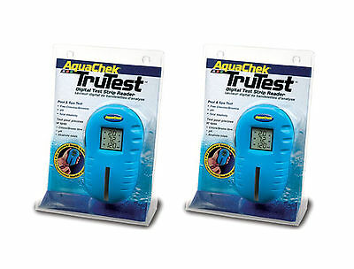 2) Aquachek 2510400 Trutest Digital Pool Spa Test Strip Readers Meter - Two Pack