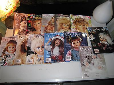 Doll Crafter back issues magazines (qty 12) 1997 Antique Reproduction Collector