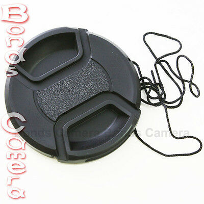 55mm 55 mm Center Pinch Snap on Front Lens Cap for Canon Nikon Sony filter CA