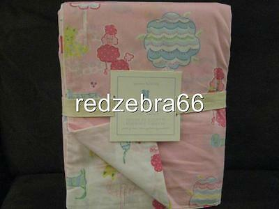 Pottery Barn Kids Poodle Full/Queen Duvet Cover Pink Magic Dog Park NEW