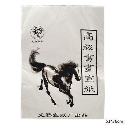 White Xuan Paper Rice Paper For Chinese Painting And Calligraphy 51*36cm 1 Pack