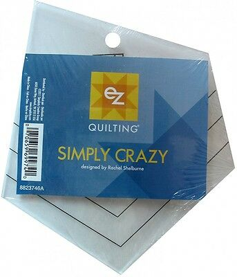 EZ Simply Crazy Acrylic Quilting Template (8823746A)