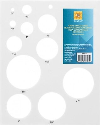 EZ Circles Quilting Template Sheet (882504)