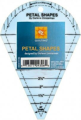 EZ Petal Shapes Acrylic Quilting Template (882670189A)