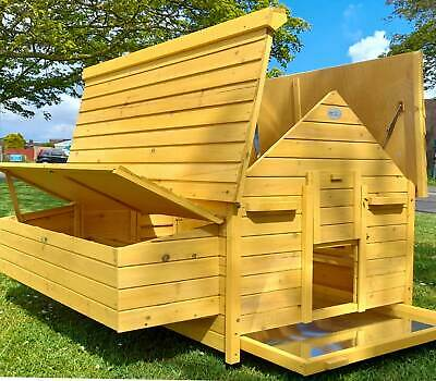 Large Chicken Coop Large Chicken House Hen Poultry Ark House Hutch New