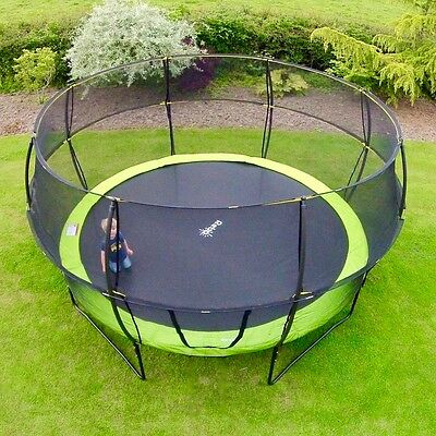Rebo 8FT Base Jump Trampoline With Halo II Enclosure