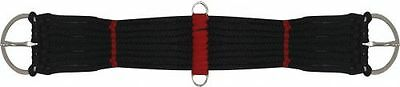 """Western Pony Mini Horse Saddle Rope Girth Cinch Black W/ Red 18"""" With D Rings"""