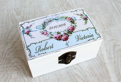Wooden,Personalized box.Ring  holder,Calendar wedding.Ring Bearer Box Wedding