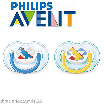 Philips AVENT SCF172/18 Orthodontic Classic Soothers 0-6 Month 2-Pcs Boy Colour