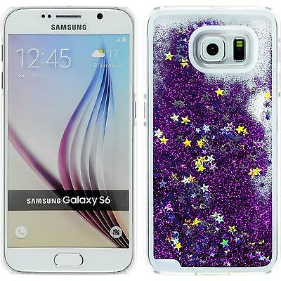 Hardcase for Samsung Galaxy S6 Stardust purple Cover + protective foils
