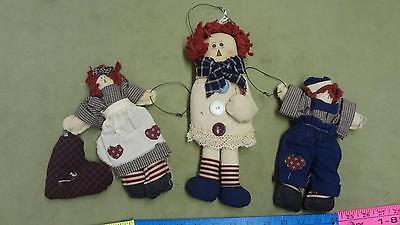 Raggedy Ann and Andy rag doll hanging decor nice
