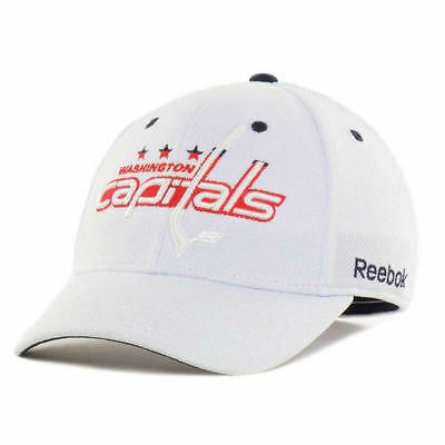 d6e5df8f1eb Washington Capitals NHL Structured White Out Reebok Face Off Hockey Hat Cap  DC
