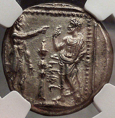 Tarsus Cilicia 369BC Silver Greek Coin NGC Certified AU Datames Satrap i28602
